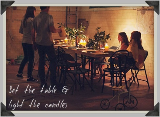 Memories - family candlelight dinner4