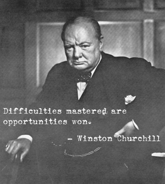 mastered difficulties - churchill - sparrow soirees