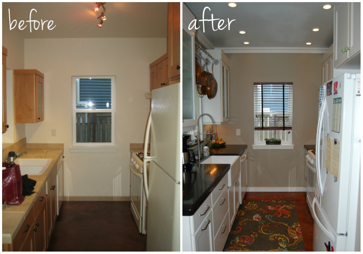Galley kitchen remodel before and after video search for Pictures of galley kitchen remodels