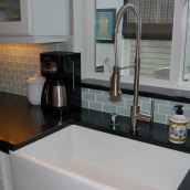 The completed kitchen, sink area - sparrowsoirees