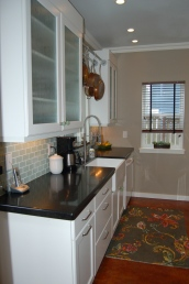 The completed kitchen, sink side - sparrowsoirees