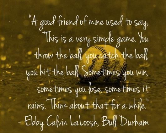 baseball - sometimes it rains - sparrow soirees