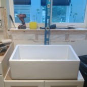 New sink in place! - sparrowsoirees