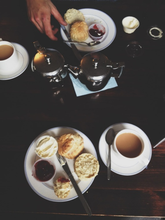 scones and coffee